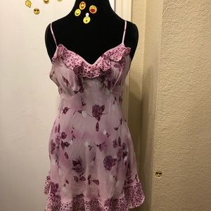 Pink Floral Silky Night Gown!!!